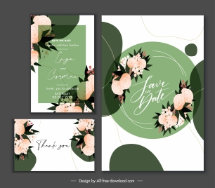 wedding card template elegant floral handdrawn decor