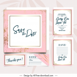 wedding card template simple plain retro grunge decor