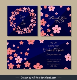 wedding card templates elegant cherry blossom decor