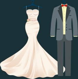 wedding clothes design luxury formal style