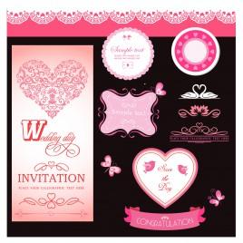 wedding day invitation set