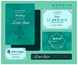 Wedding invitation card vectors stock for free download about 115 wedding invitation card design with green bokeh background stopboris Choice Image