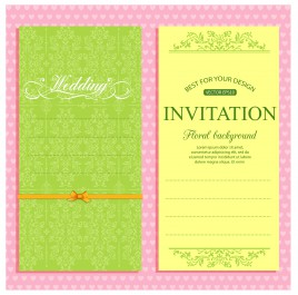 Wedding invitation card templates free vector vectors stock for free wedding invitation card template stopboris Image collections