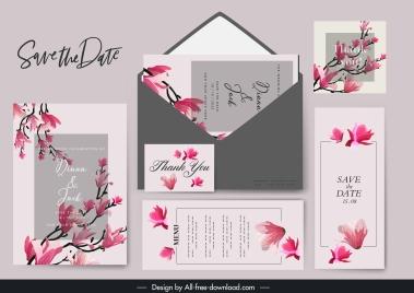 wedding templates classical cherry blossom decor