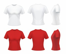 White and red t-shirts