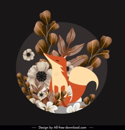 wild nature painting floras fox sketch elegant classic