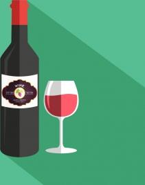 wine advertisement banner bottle glass decoration colorful design