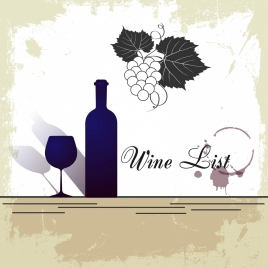wine promotion banner silhouette grungy style
