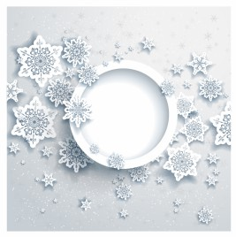 Winter background design with snowflakes