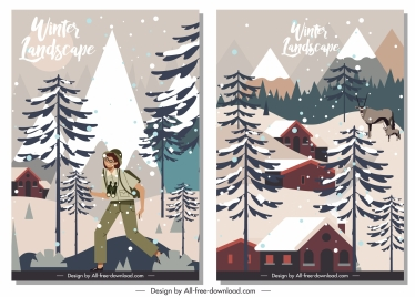 winter backgrounds colored classic design