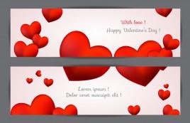 with love happy valentine day banner