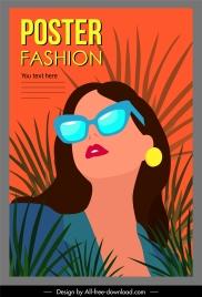 woman fashion poster elegant lady sketch colorful classic