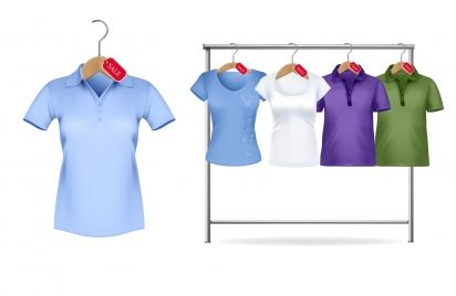 Women Polo Shirt Template Vectors Stock For Free Download