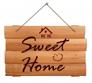 wooden home banner