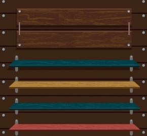 wooden signboard templates 3d multicolored decor