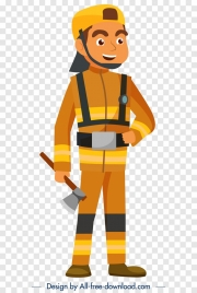 woodman avatar icon colored cartoon character sketch