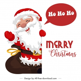 xmas banner happy santa sketch cartoon character