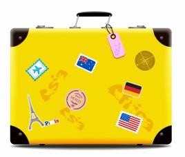 Yellow Travel Suitcase