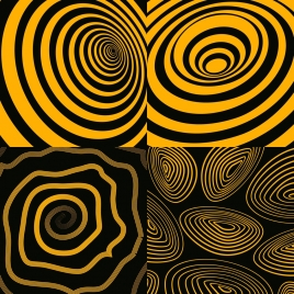 yellow twisted circles background templates