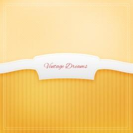 yellow vintage dream ribbon label