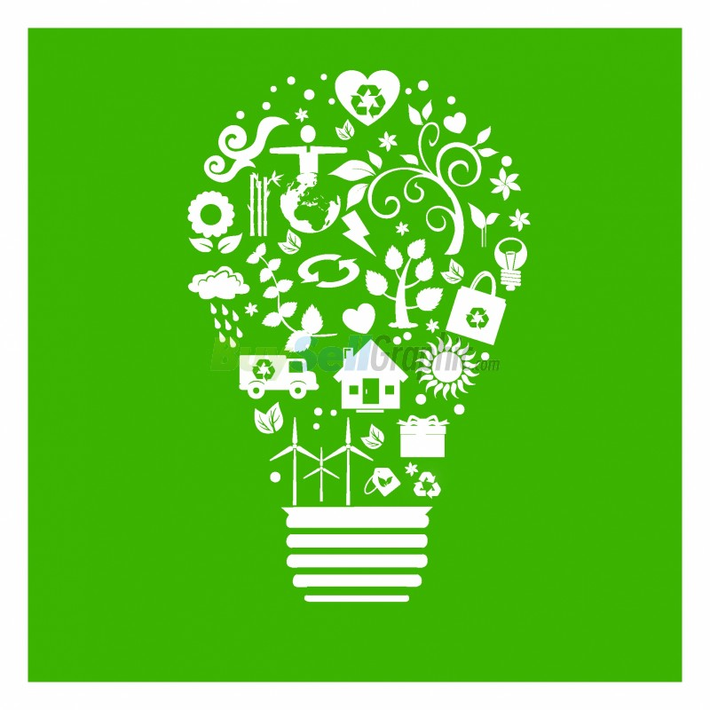 Recycle Light Bulb Vector Graphic Royalty Free Download