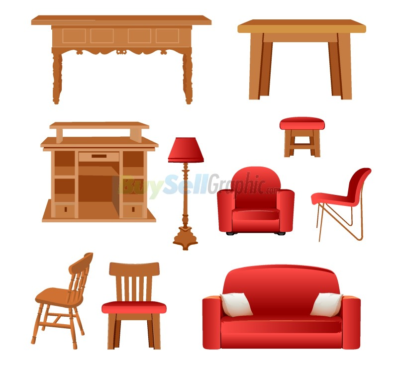 Furniture vector graphic royalty free download